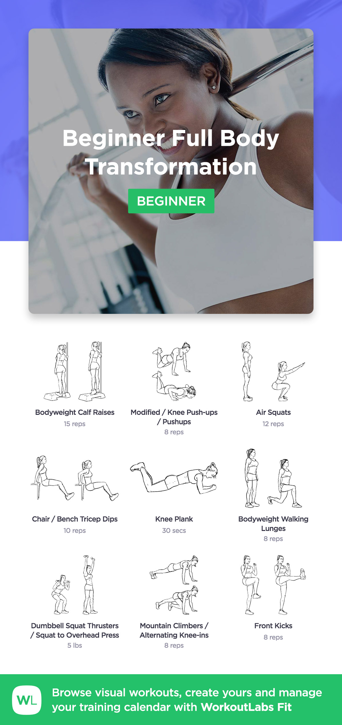 More Workouts Por Beginner Full Body Transformation