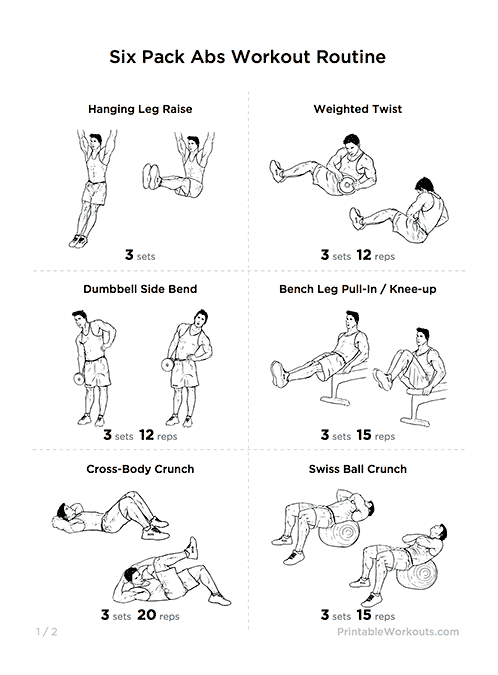 6 pack abs exercise routine