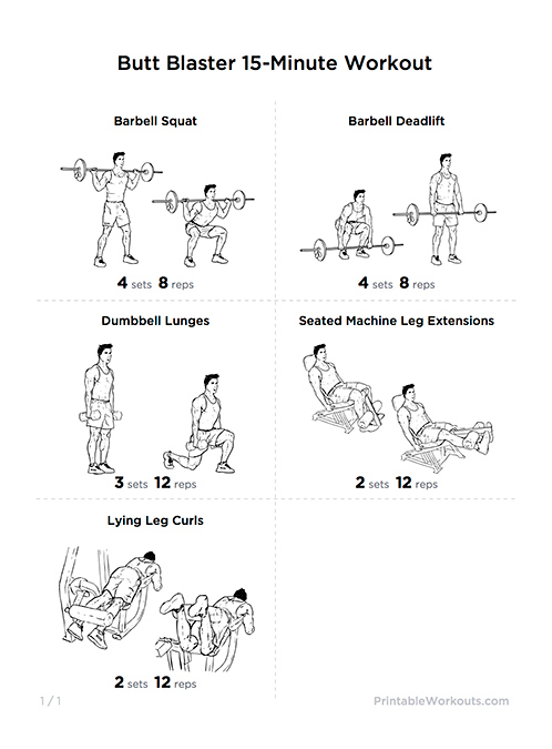 sexy toned glutes  u0026 thighs butt blaster printable workout