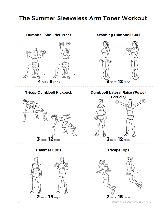 Arm Workouts Women: Toned & Strong Arms & Shoulders Gym Workout For Men & Women