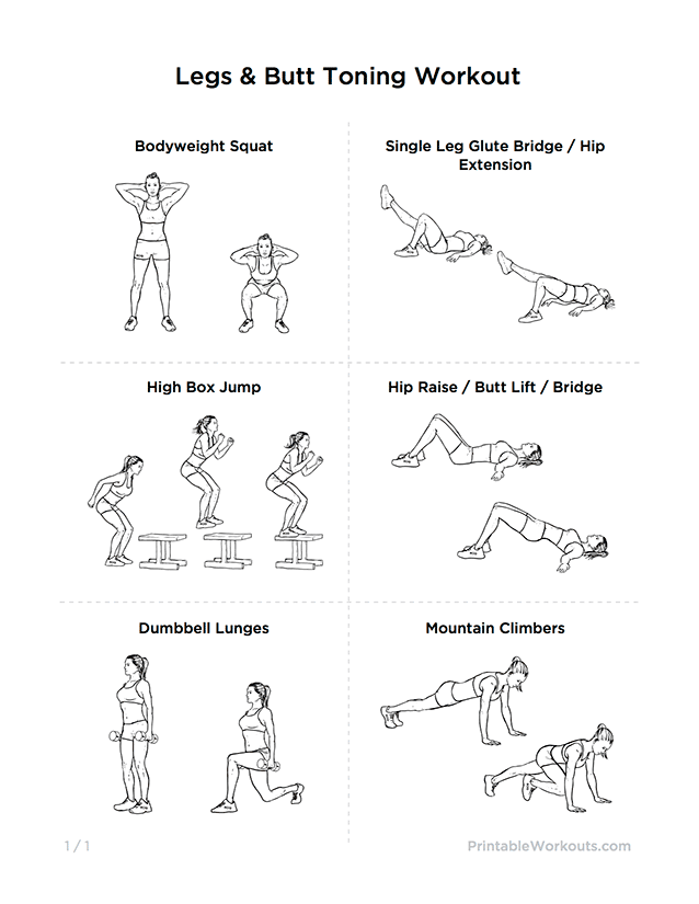 Leg Exercises For Women Included exercises