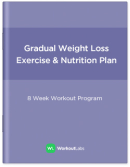 Gradual Weight Loss: Gym Workout Program & Nutrition Plan