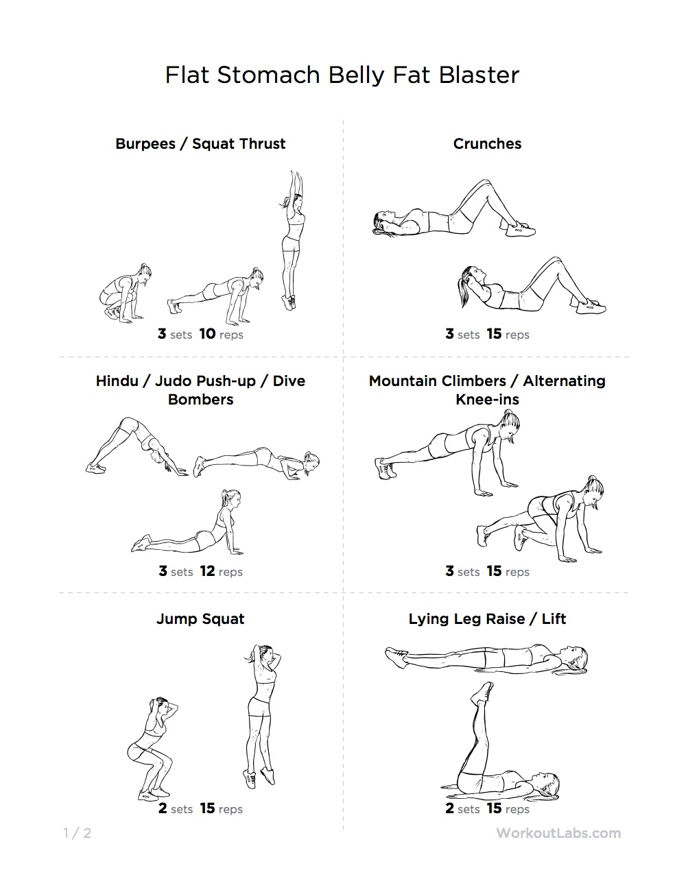 Ultimate At Home Workout For Beginners No Equipment Needed Printable Version Also Available