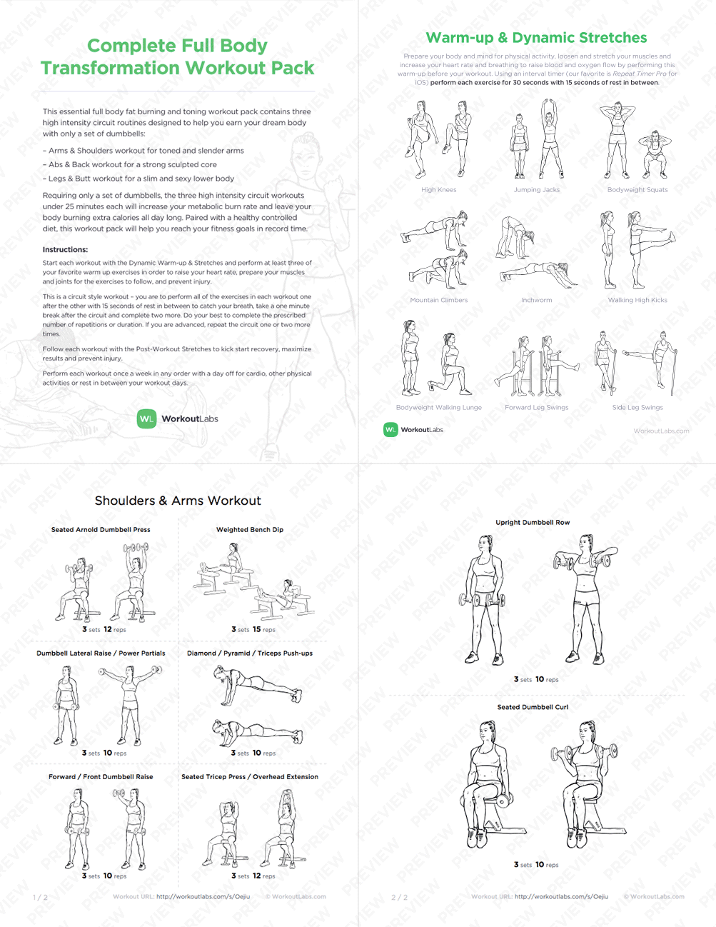 Full Body Dumbbell Workout Routine Pdf Eoua Blog