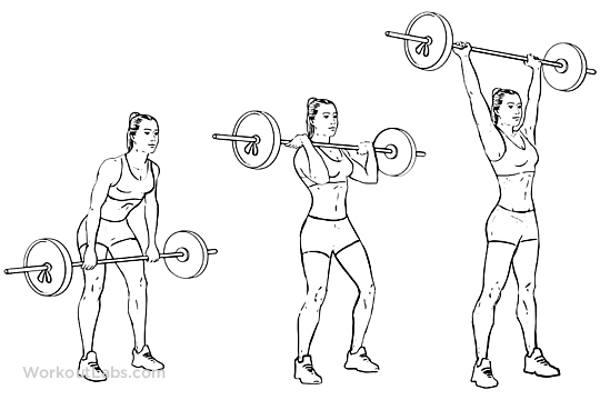 Barbell Clean and Press / Jerk / Overhead Press | WorkoutLabs