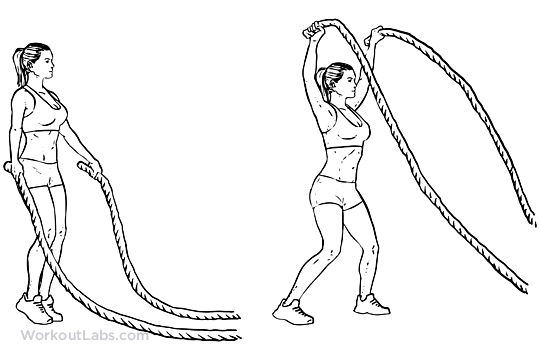 Battle Rope Jumping Jacks   WorkoutLabs