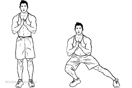 Bodyweight Side Steps / Lateral Lunges | WorkoutLabs