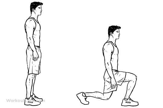 Bodyweight Walking Lunge