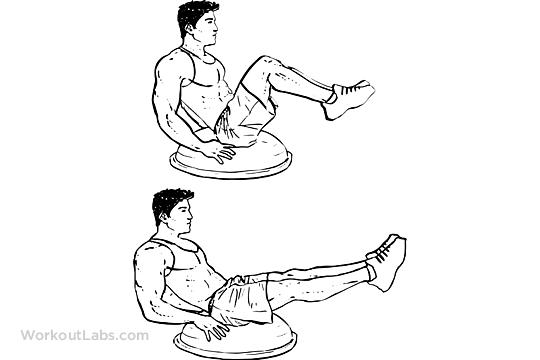 Bosu Ball Leg Pull In Knee Tucks Workoutlabs