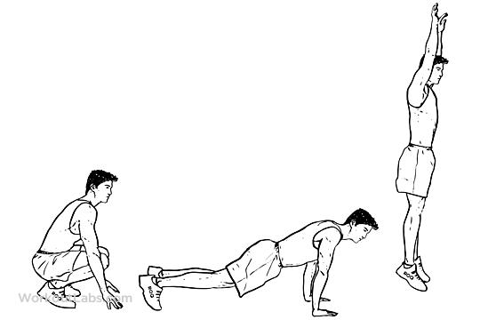 simple ups diagram burpees / squat thrusts | workoutlabs military push ups diagram