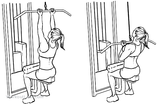 Image result for CLOSE-GRIP LAT PULLDOWN