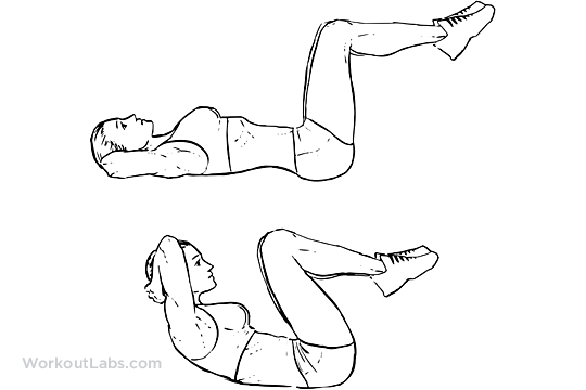 Double Crunches | WorkoutLabs