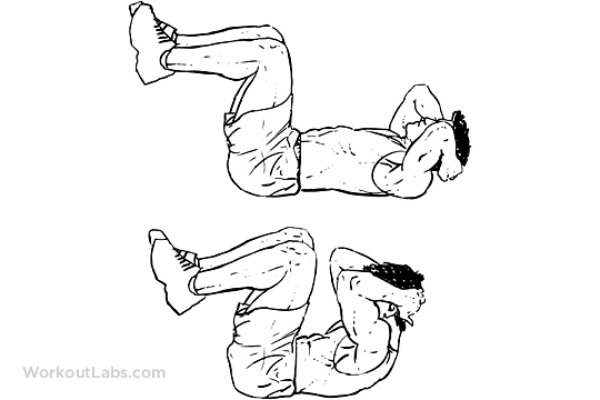 Double Crunches Workoutlabs