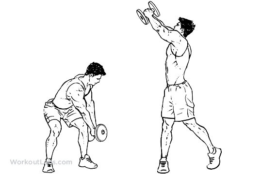 Dumbbell Chop Illustrated Exercise Guide Workoutlabs
