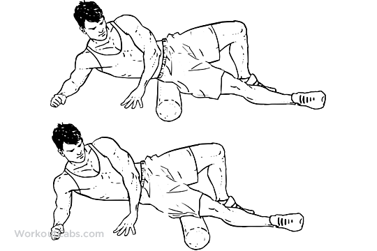foam roller outer thighs stretch