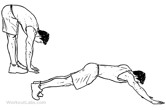 inchworm   walk out illustrated exercise guide workoutlabs