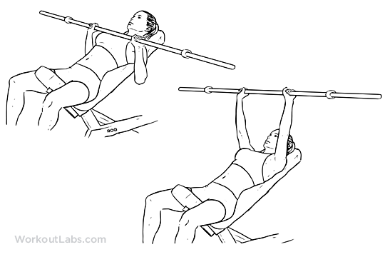 Incline Barbell Bench ...