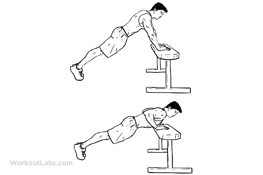 Incline Push-ups / Pushups | WorkoutLabs