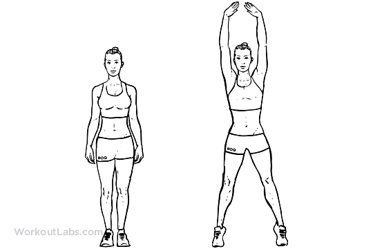 Jumping Jacks / Star Jumps | WorkoutLabs