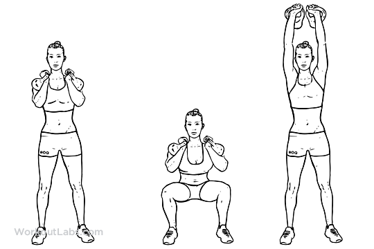 Squat Clean Workout Squat to Clean to Overhead