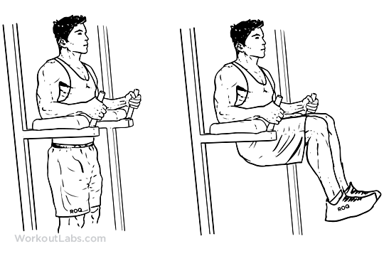 Captain S Chair Leg Knee Hip Raise Illustrated