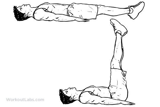 lying leg raise    lift
