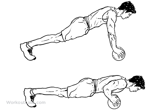 Medicine Ball Push Up Illustrated Exercise Guide