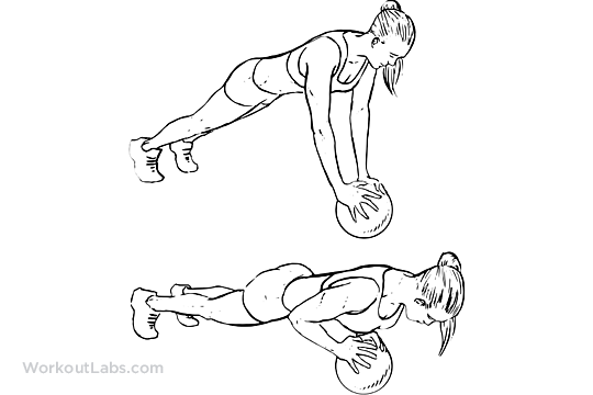 Medicine Ball Push-Ups   WorkoutLabs