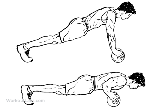Medicine Ball Push Ups Workoutlabs