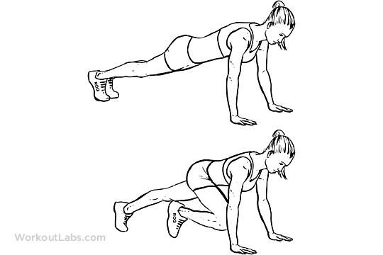 Mountain Climbers / Alternating Knee-ins | WorkoutLabs
