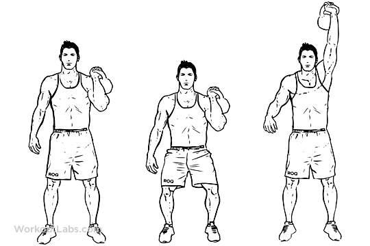 onearm kettlebell push and press workoutlabs
