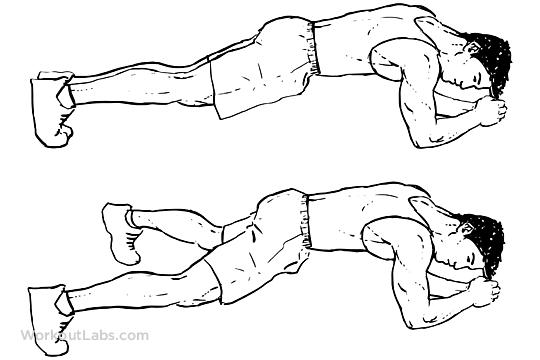 Plank Jacks / Extended Leg | WorkoutLabs
