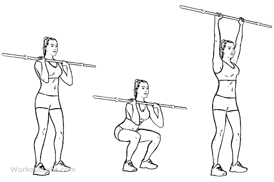 Barbell Push and Press | WorkoutLabs