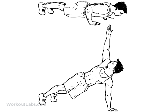 Spin Push Up Rotations Workoutlabs