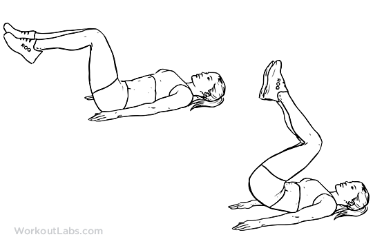 Reverse Crunch | Illustrated Exercise guide - WorkoutLabs