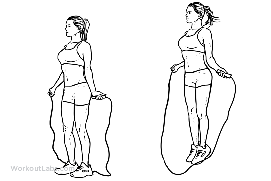 Rope Jumping Illustrated Exercise Guide Workoutlabs