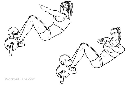 Afbeeldingsresultaat voor twist sit up, oefeningen voor een strakke buik