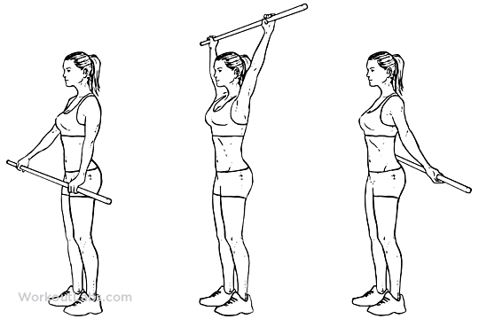 Shoulder Pole / Broomstick Stretch | WorkoutLabs
