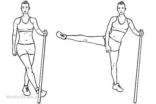 Side Lateral Leg Hip Swings