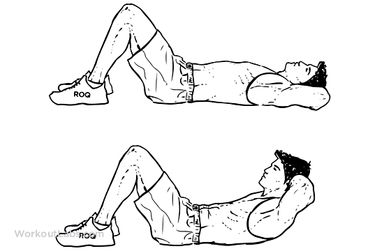 Crunches Illustrated Exercise Guide Workoutlabs
