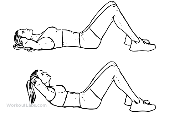 Crunches   WorkoutLabs