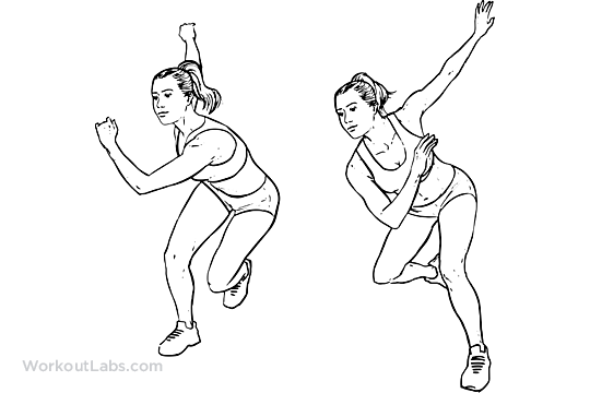 Side    Lateral Suffles    Hops    Skaters