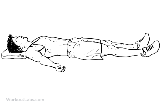 Supine Lying Down Position / Corpse Pose : WorkoutLabs