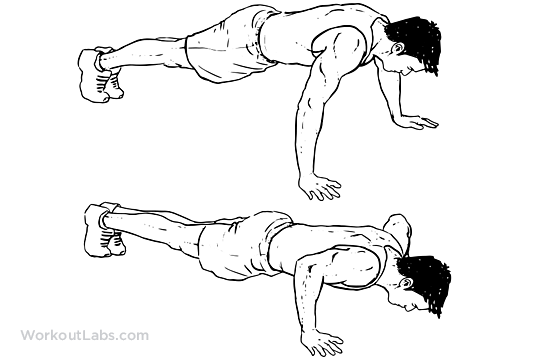Wide Push Up Illustrated Exercise Guide Workoutlabs