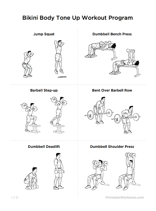 Gym Workout Routines For Weight Loss And Toning Pdf Krtsy