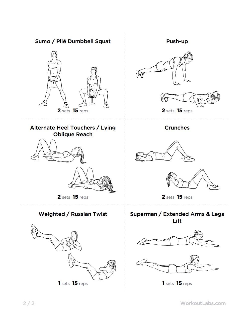 Essential Full Body Kettlebell Printable Workout for Men ...