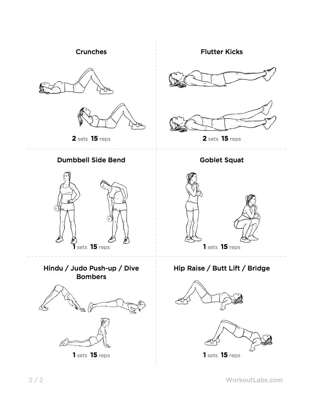 Love Handles & Muffin Top Melter Printable Gym Workout for ...