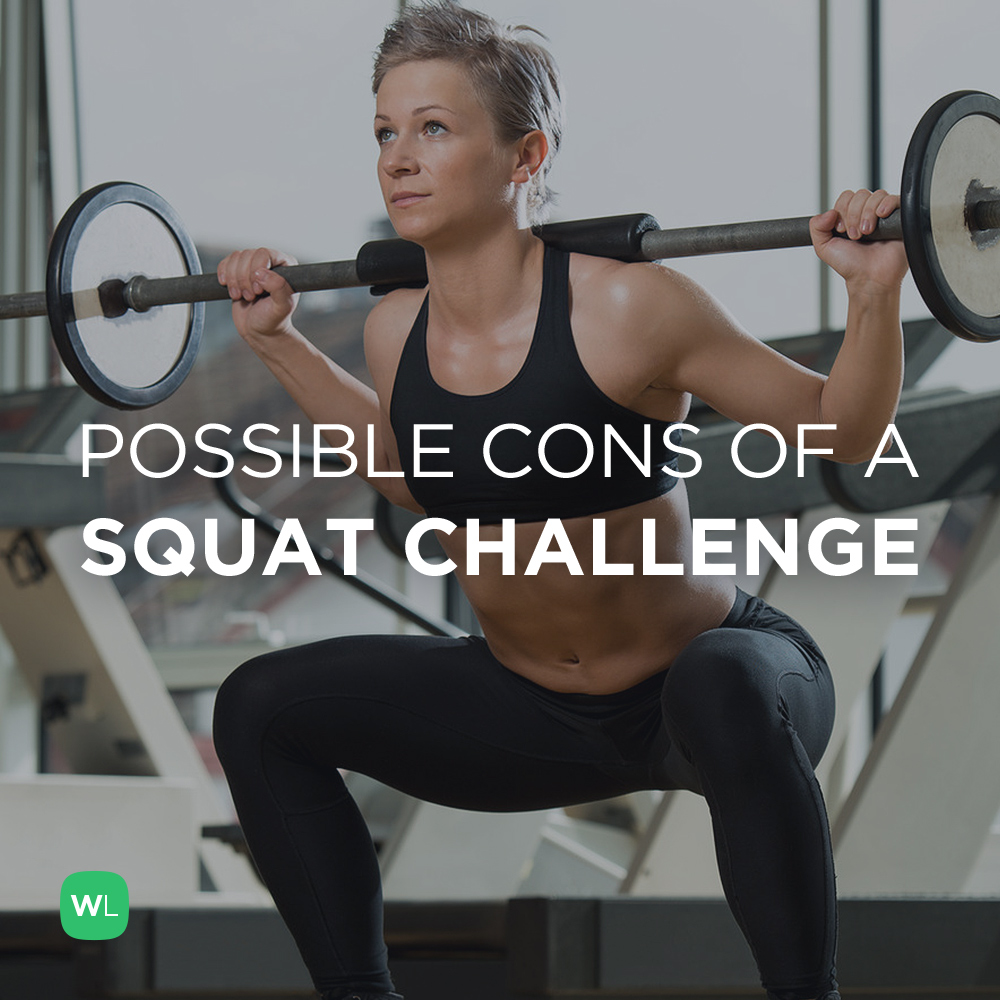 Are there any cons to doing a squat challenge? Visit https://wlabs.me/Ycw9XZ to find out!