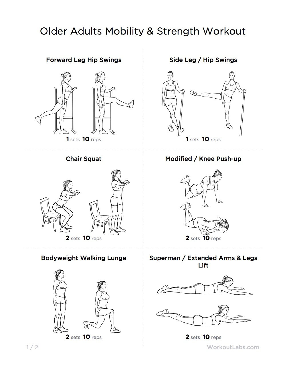 Balance exercise for older adults