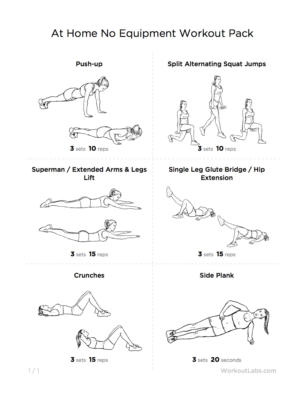 Home workout plan no weights